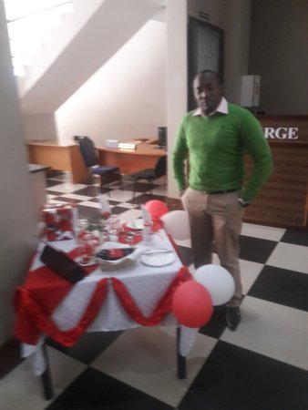 the reception at the clarion hotel