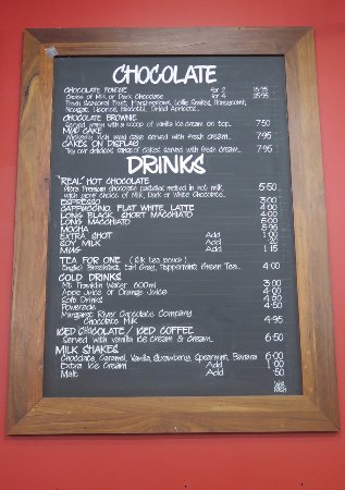 Metricup, Australia: Drinks Menu