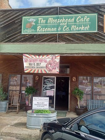 Crockett, TX: The Moosehead Cafe.