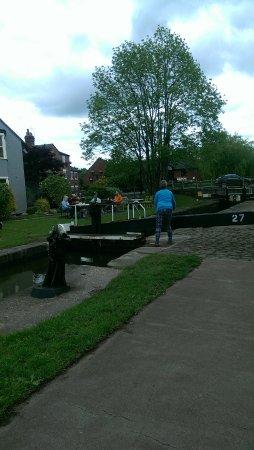 Stone, UK: canal side lock