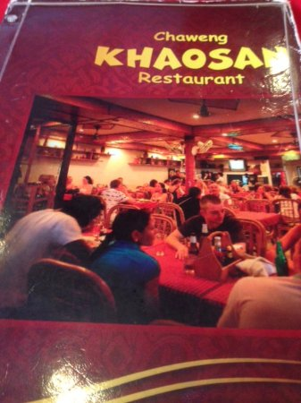 Khaosan Restaurant: Menu