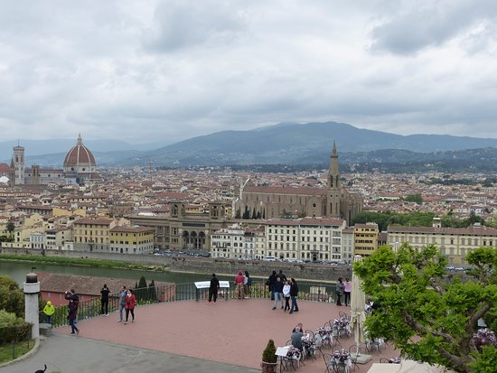 Italian Florence: View Over Florence From The Piazzale Michelangelo