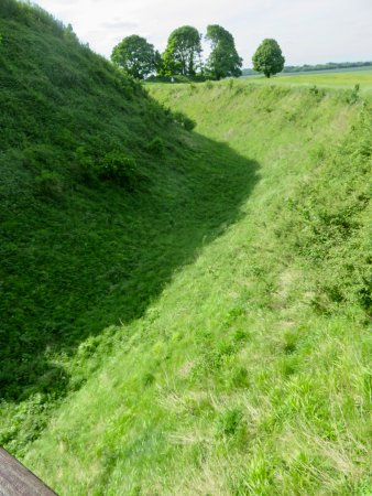 Salisbury, UK: The moat around Old Sarum
