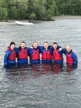 Chorley, UK: Stag party and hen party raft building adventure activities weekend