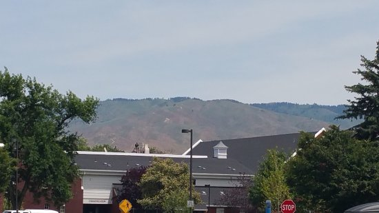View of Mountains in Distance at Boise State University
