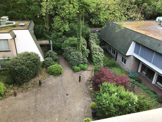 Nunspeet, The Netherlands: Bel hotel, calme et romantique mais le caca sur la vitre ne devrait pas être là pour un 4 étoile
