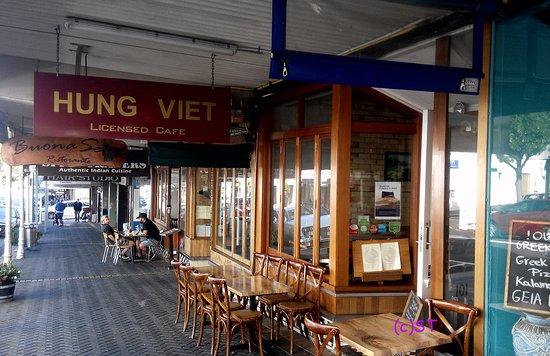 Devonport, New Zealand: Front of Restraurant