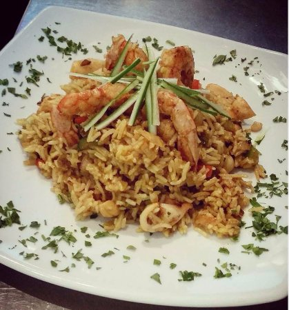 Piso Livadi, Grecja: Α very special rice with seafood!! New plate!!