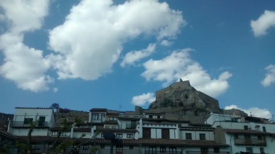 Morella, Spanien: Vista desde el casco urbano