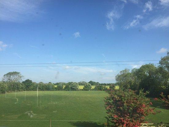 Woodbridge, UK: view from the yoga studio