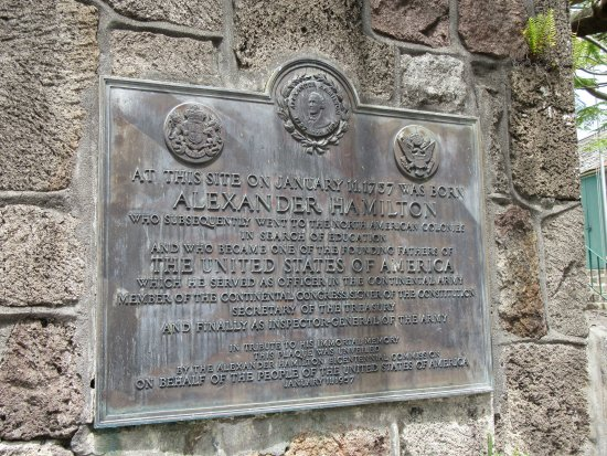 Alexander Hamilton House: A plaque commemorating Alexander Hamilton
