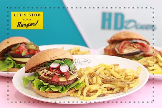 HD Diner Saint-Michel: Burger 100% Vegan
