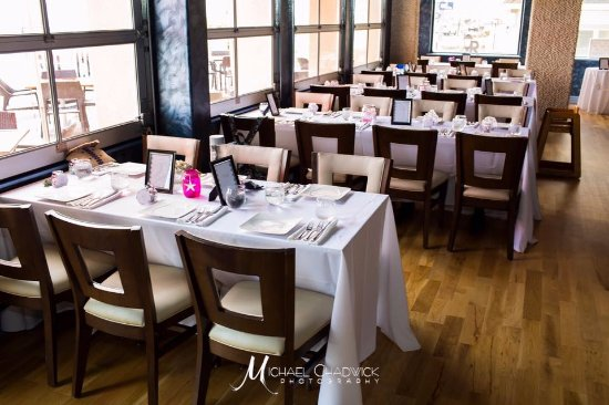 Wedding tables set up - Picture of SeaSalt Restaurant, Cape May ...