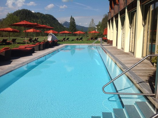 Schloss Elmau: Adult only, textile optional salt water pool at the Baddehaus spa