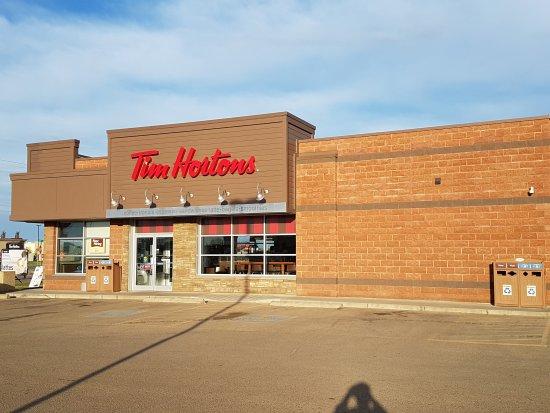 Tim Hortons in Stettler, AB, Canada.