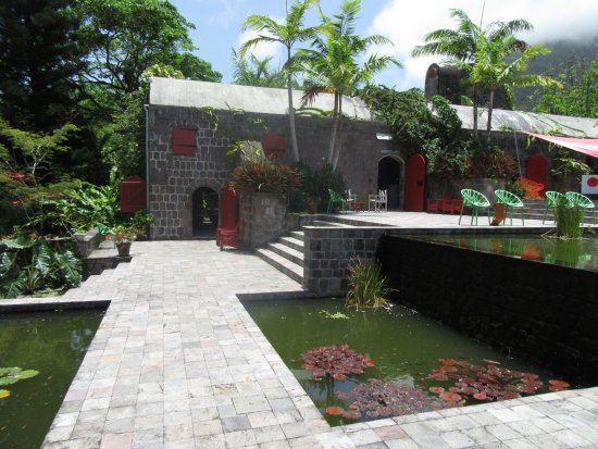 Nevis: The terraced koi ponds were stunning