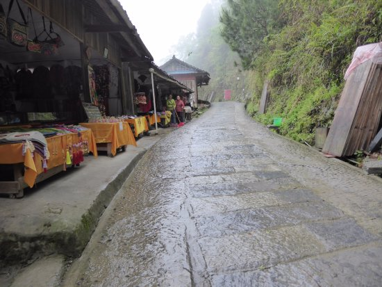 Long Ji One Hotel: On the way up to Ping An