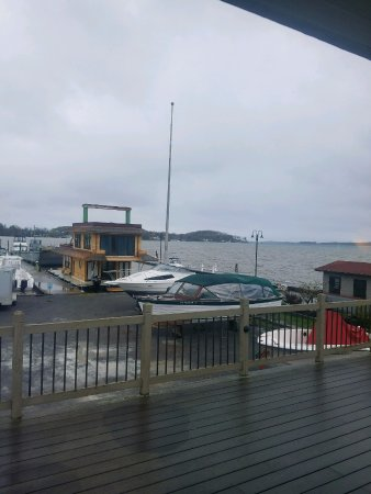 Islander Marina & Lodge: View through back door window when it was raining.