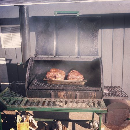 Norway, ME: Pork butts in the smoker