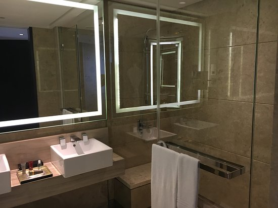 Walk-In Shower, No Bathtub - Picture of Singapore Marriott Tang ...