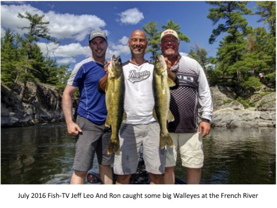 Noelville, Canada: FISH-TV  did 3 fishing shows at the Wolseley Lodge