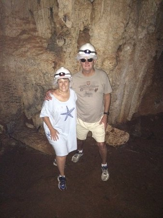 Sandys Parish, Islas Bermudas: In the caves, wearing our hardhats
