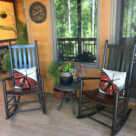 Fairview, NC: Rocking Chairs on the back deck