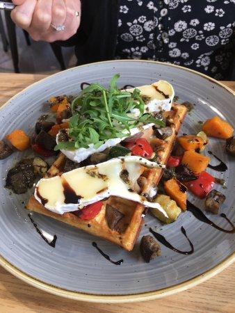 Leighton Buzzard, UK: Savoury Waffle
