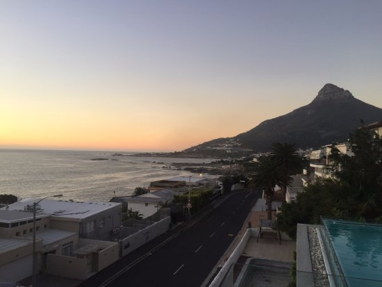 Blue Views: Amazing sunset looking back toward Camps Bay
