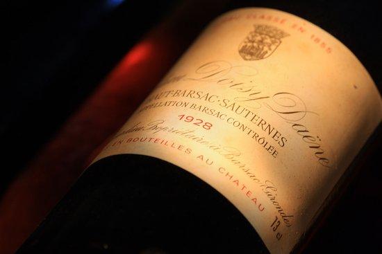 Barsac, فرنسا: Millésime 1928, les vins de Barsac....d'un longévité extraordinaire!