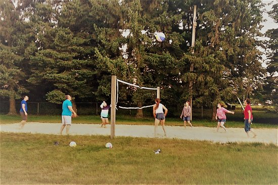 Fennville, MI: Sand volleyball court in the backyard.