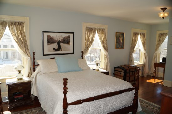 Fayetteville, NY: The Bertrand Suite, $165.00 a night. Full breakfast served in the parlor.