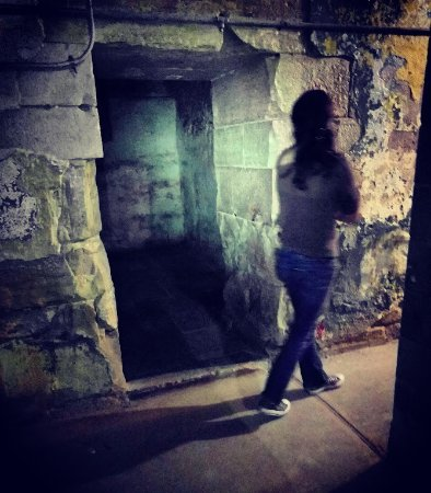 Jefferson City, MO: Walking past one of the dungeon (isolation) cells