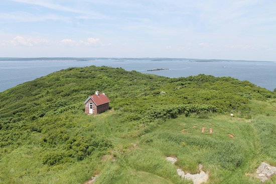 Bath, ME: View from the top of Seguin Island Lighthouse