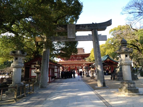 Dazaifu, Japonya: 石造的鳥居門