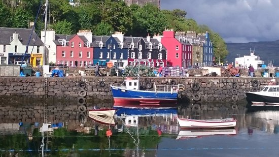 Tobermory Youth Hostel : The hostel is the orange building towards the left.