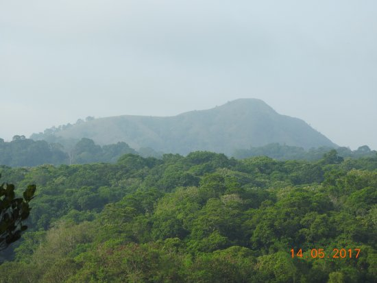 Jungle Palace: View from private balcony-another view of elephant look alike mountain