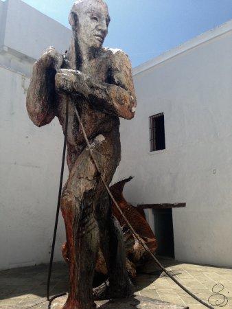 Museo de Arte Contemporaneo de Oaxaca (MACO): L'oeuvre-phare du musée: El Pescador. MACO, Oaxaca, Mexique.