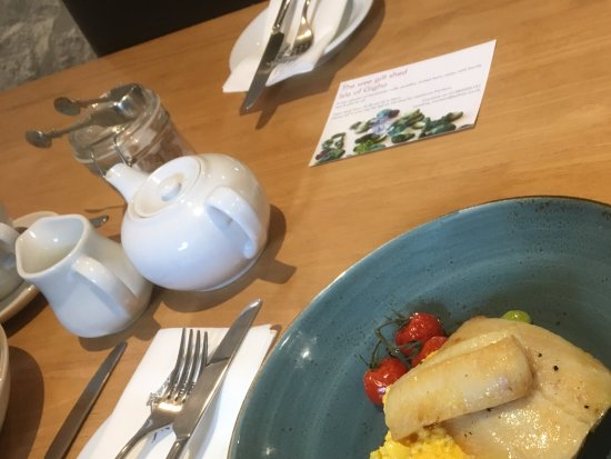 Isle of Gigha, UK: Smoked haddock and scrambled eggs