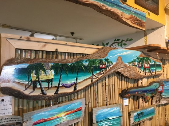 Some of the wall art. Hand painted wood pieces of all sizes ...