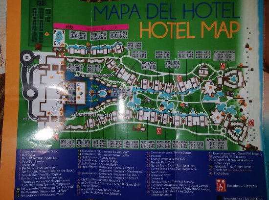 Grand Riviera Princess All Suites Resort & Spa: Hotel Map