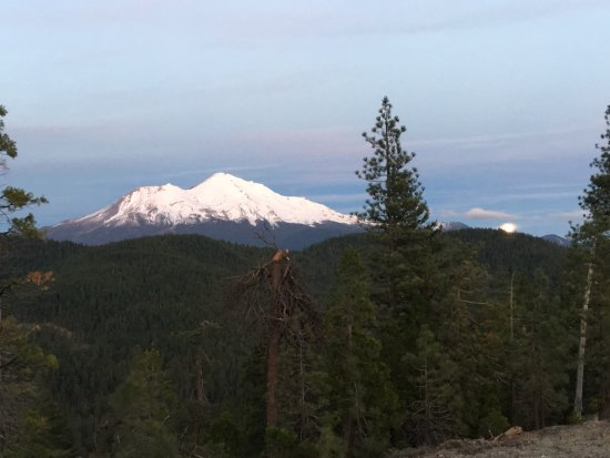 Dunsmuir, CA: View of mt shasta from the top of North Shore rd. near lake siskiyou.