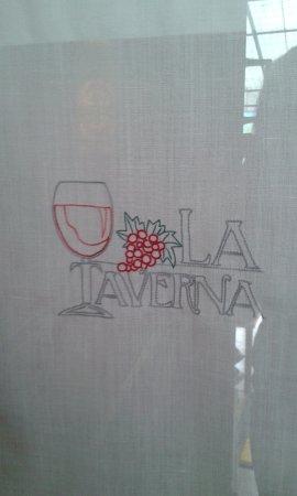 Pizzeria Birreria La Taverna da Eliseo: tendina all'entrata