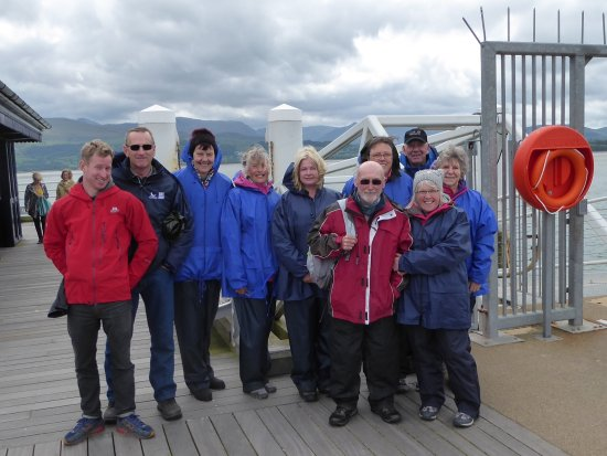 Menai Bridge, UK: Our group ready and raring to go.