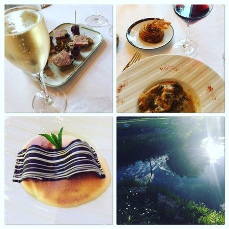 Le Buisson-de-Cadouin, França: Notre menu en 3 photos - Au fil de l'eau du magnifique parc ....