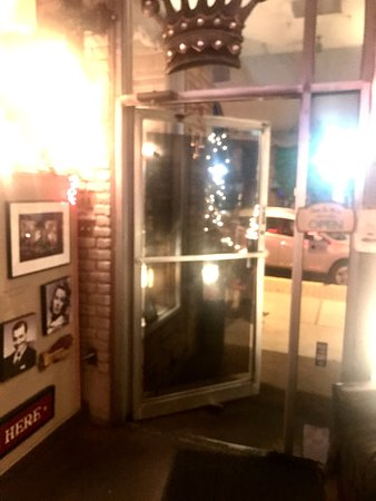 Utica, NY: Wide open front door on a 48 degree night. A+ for service. NOT