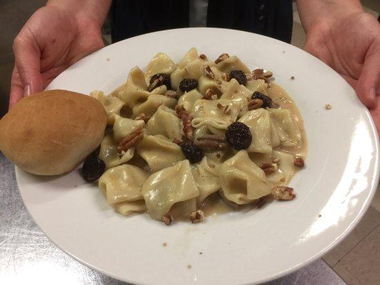Bay Saint Louis, MS: Orange cream . Schnitzel salad. Chocolate . Gorgonzola cherry. Easy parking. Ev vehicle chargers
