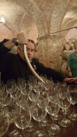 Castello di Amorosa: Barrel tasting with tour
