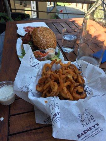 Barney's Gourmet Hamburgers: Curly fries