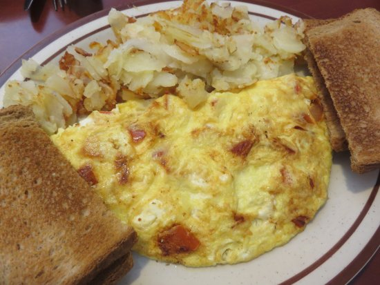 Harrington, DE: Tomato and cheese omelet